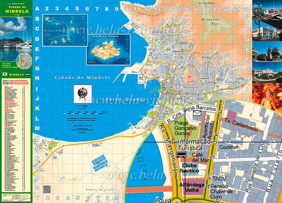 City Map Mindelo Cape Verde ©Pitt Reitmaier