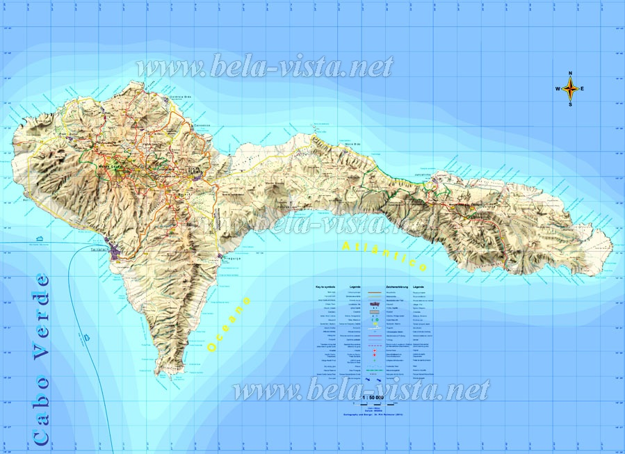 Hiking Map Sao Nicolau Island Cape Verde ©Pitt Reitmaier