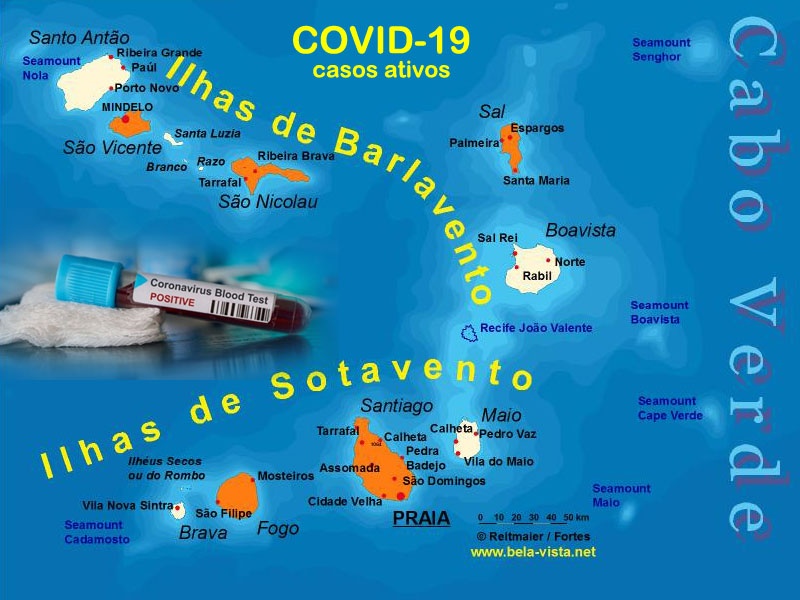 Cabo Verde map Covid-19