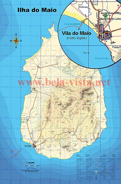 Map of Maio - Cape Verde